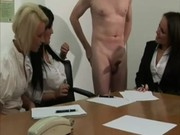 Office babes get a hard priority project at work