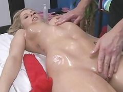 she gets vagina massaged