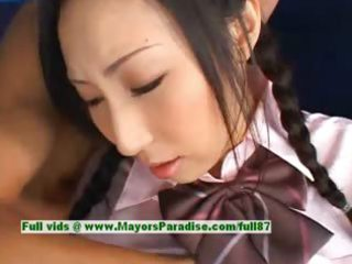gorgeous japanese girl takes tits tasted and