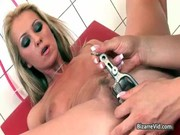 Exciting nurse stuffing her patient vag