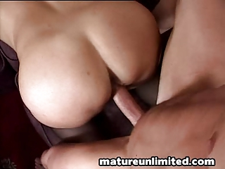Housewife getting from behind