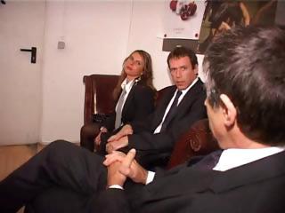 two german secretaries make a fine impression on