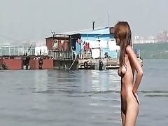 fishing with some nude russian amateur