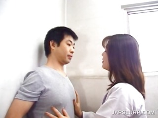 japanese whore giving dick sucking in openair