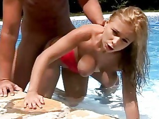 extremely impressive blond angel shagging into
