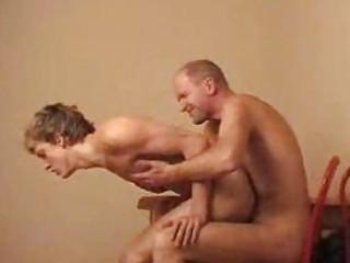 horny gay twink rides on hot gey daddie on chear