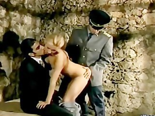 blond prisoner getting dp for her sins