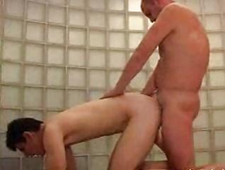 bald gay hunk gangbangs blond lean male bareback
