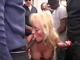 french slutty bleached cougar gangbang