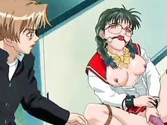horny anime sweetie playing her kitty to orgasm
