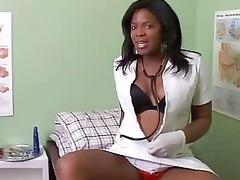 desperate fat black girl inside doctors office