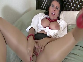 blouse and nylons