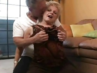 lovely busty granny gets elderly libido in her