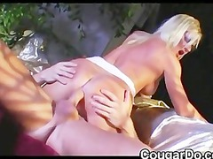 whore with blond hair does anal