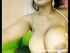 ebony chick with large bossom and bottom playing