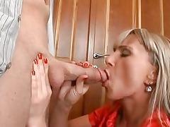 christina lee enjoys licking cock and sliding it