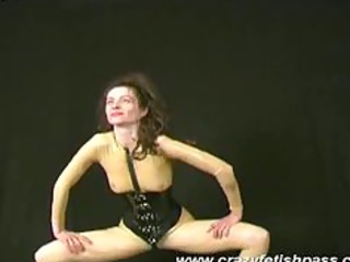 rubber angel spreading her legs and streching fat