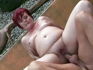 chubby grandma teasing difficult porn