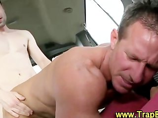 Gay becomes the backseat driver in this van