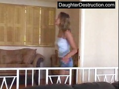 beautiful teenager daughter roughly hatefucked