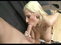 slutty albino hr rep gives an employee a private
