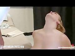 bondage babe takes instructions from the nurse