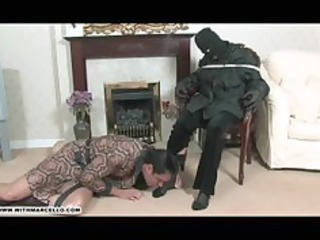 hunky gay stud likes foot wank and cock sucking