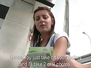 pretty brunette girl gang-banged for money