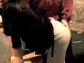 brown eyed lady gets spanked
