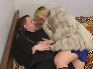 russian man gangbanging a older  inside fur