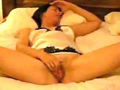 sexy lady adores rubbing her clit