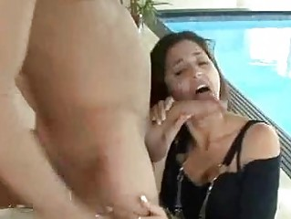 wonderful ebony haired adult movie star gives