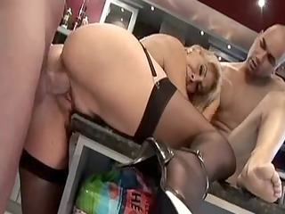 english older in darksome nylons gets twofold
