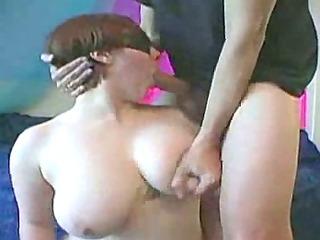 blindfolded with amazing tits facefucked