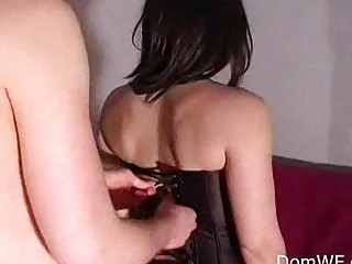 leashed male legs like with woman