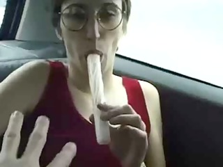 hot french girl outdoor twofold cock