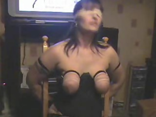 boob whipping my bitch wife