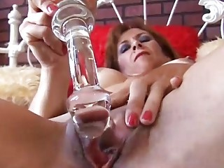 awesome older  ginger is feeling naughty