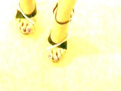 stripper heels footjob