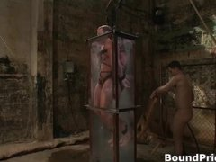 fellow bound and put in water tank gay part1