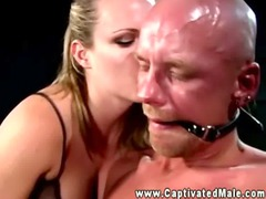 dominatrix acquires mean with her submissive