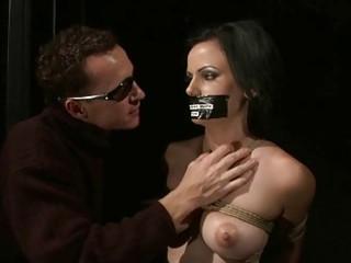 horny slavegirl taking bondaged and pierced