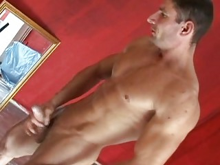 muscle male jacking off and jerking his awesome