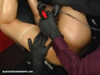 dominatrices tie a adorable japanese lady up and