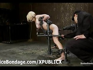 gagged madison scott toyed restrained inside