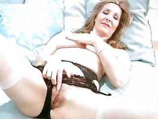 busty older  inside brief hand masturbation