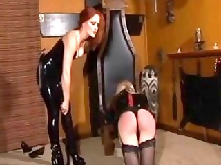 shemale master spank her filthy tranny slave