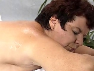 woman pierced by masseur