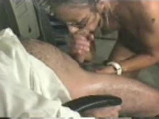 lady with glasses licks and acquires facial