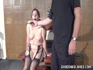 sick domination and fake penis machine banging of